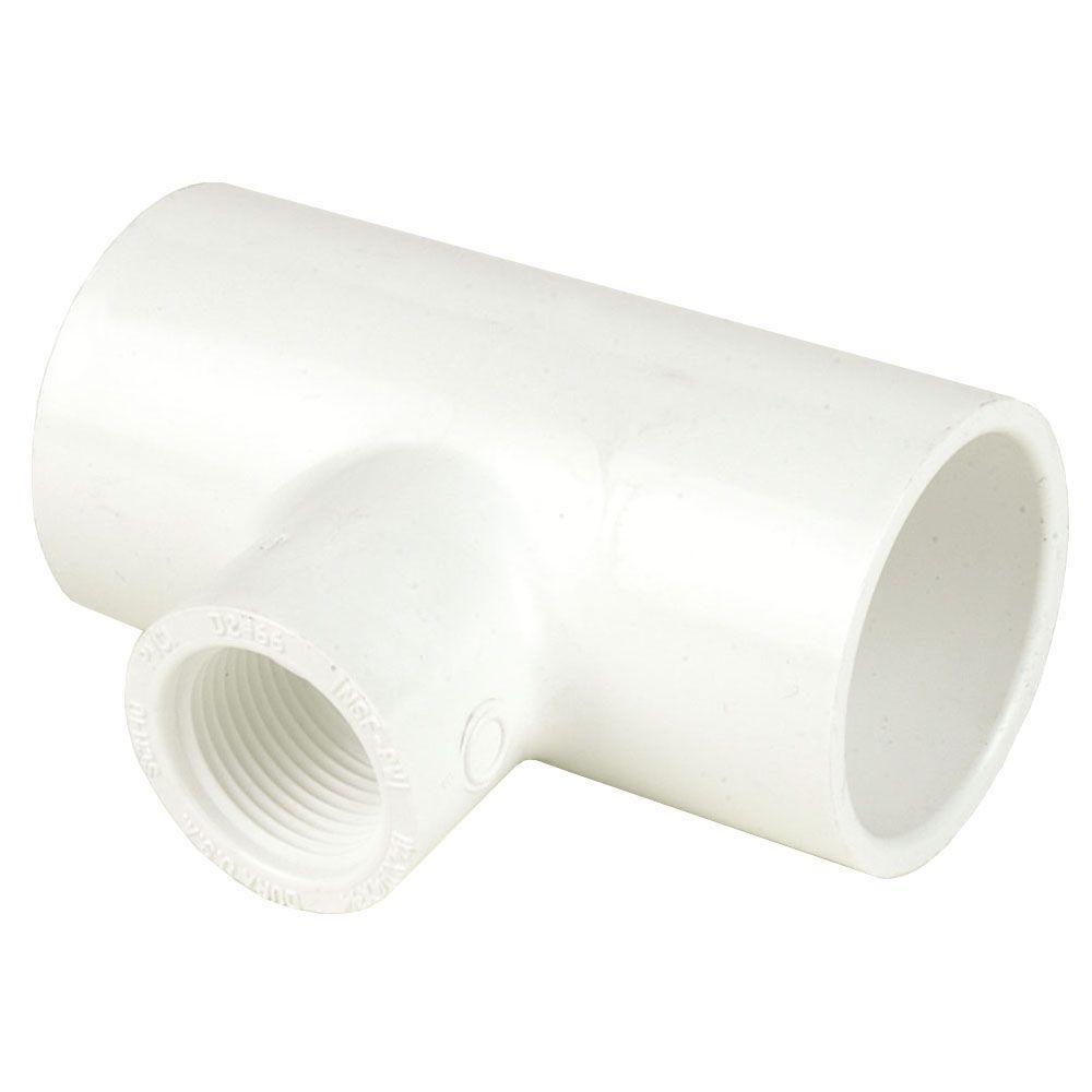 DURA 5 in. x 5 in. x 2 in. Schedule 40 PVC Reducing Tee SxSxFPT
