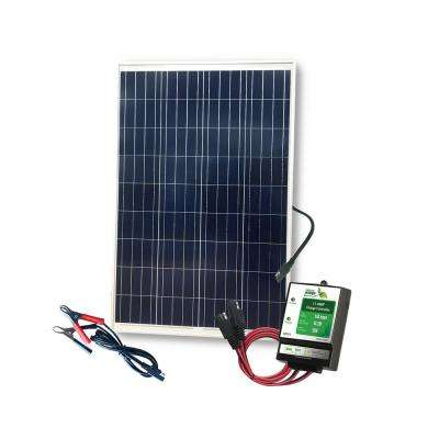 100 Watt Solar Kit with 11 Amp Charge Controller Diy Solar Panel System Wiring Diagram Panels Using Volt on