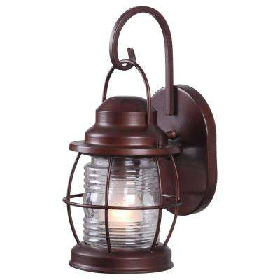 Harbor 1-Light Copper Outdoor Wall Lantern Sconce