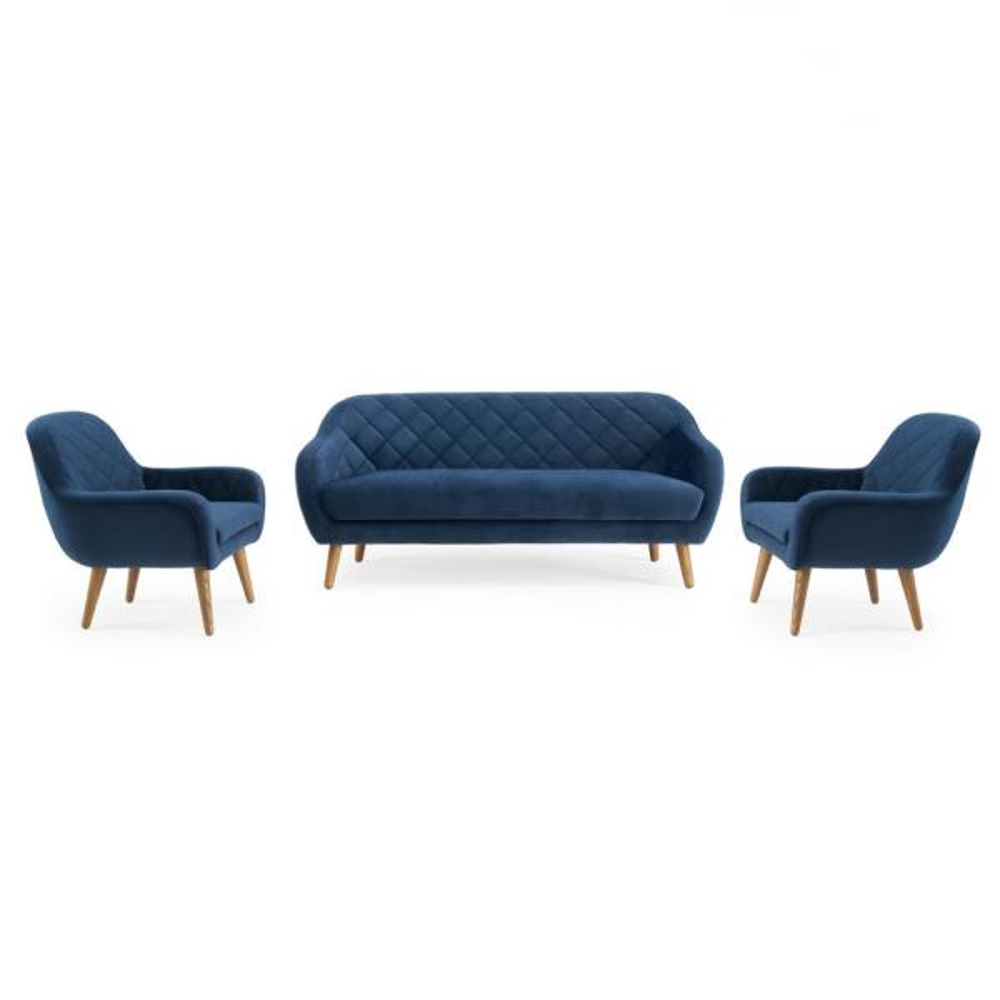 Isobel 3-Piece Cobalt Blue Seating Set