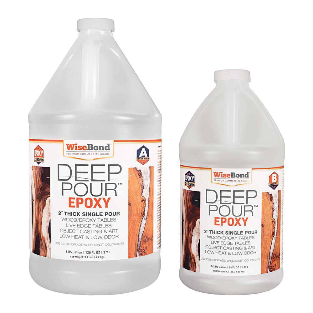 WiseBond 1.5 gal. Clear Deep Pour 2 in. Thick Single Pour 2:1 Ratio River Table Epoxy (Kit)