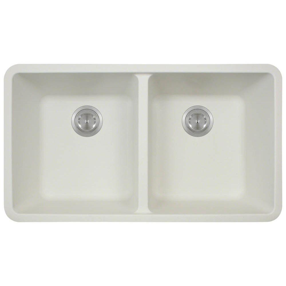 Polaris Sinks Undermount Composite 33 In Double Bowl