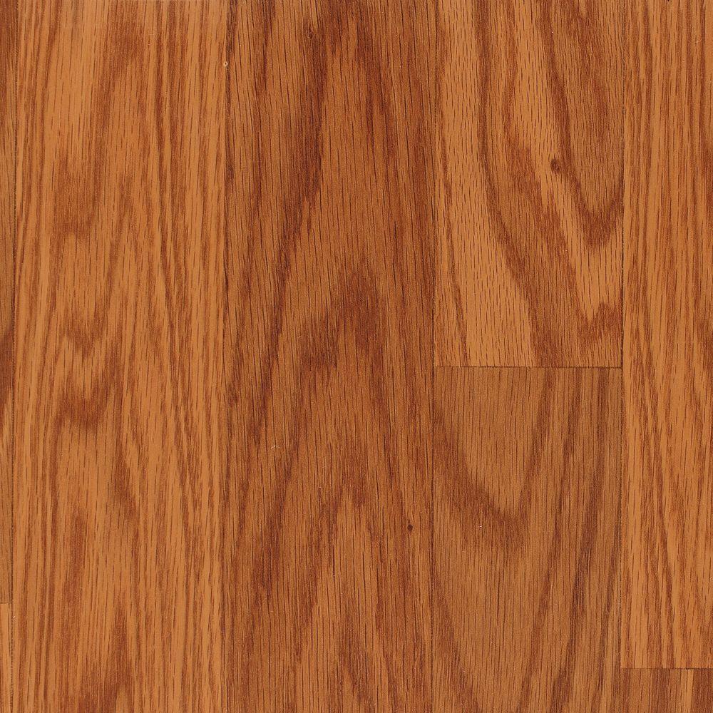Mohawk Auburn Oak 3-Strip 8 mm Thick x 7-1/2 in. Wide x 47-1/4 in. Length Laminate Flooring (17.18 sq. ft. / case)