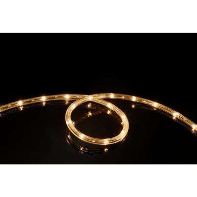 16 ft. Soft White All Occasion Indoor Outdoor LED 1/4 in. Rope Light 360° Directional Shine Decoration (2-Pack)