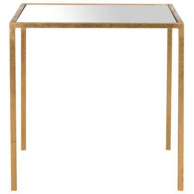 Kiley Gold Mirror Top End Table
