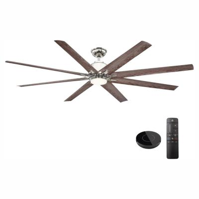 Kensgrove 72 in. LED Indoor Polished Nickel Ceiling Fan works with Google Assistant and Alexa