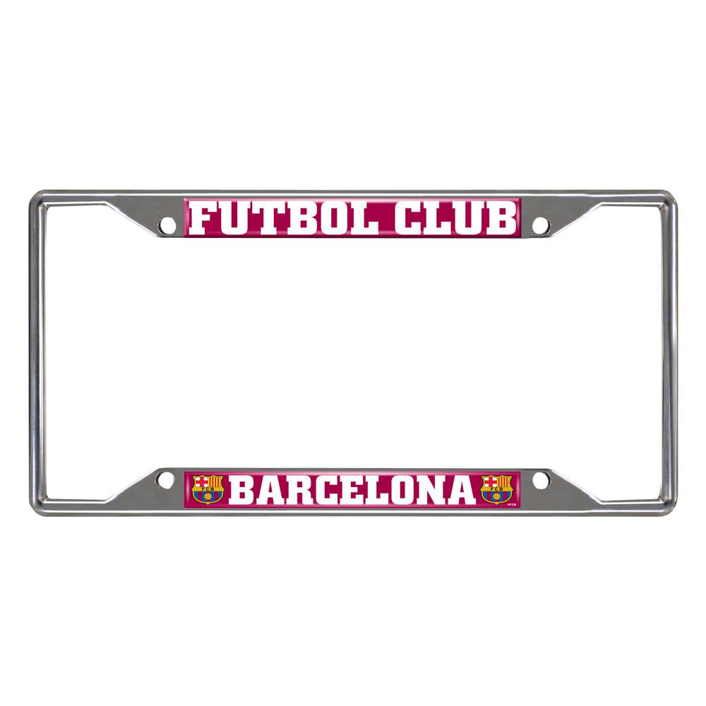 FANMATS FC Barcelona Chrome 12.25 in. x 6.25 in. x License Plate ...