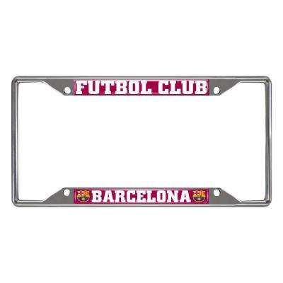 FC Barcelona Chrome 12.25 in. x 6.25 in. x License Plate Frame
