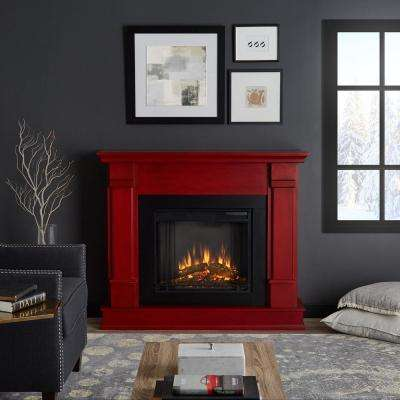Silverton 48 in. Freestanding Electric Fireplace in Rustic Red