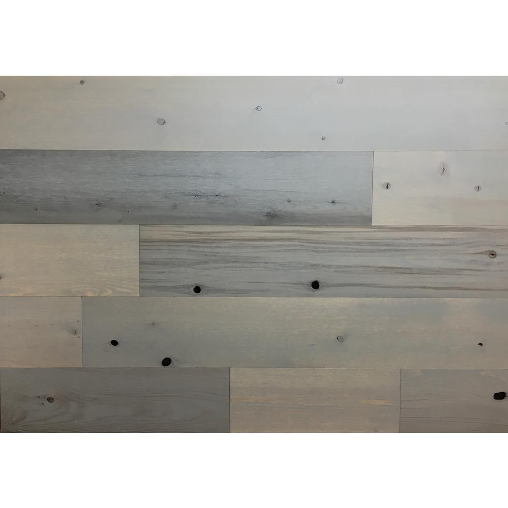 Driftwood 5 in. Peel and Stick Wall Applique Panels (20 sq.
