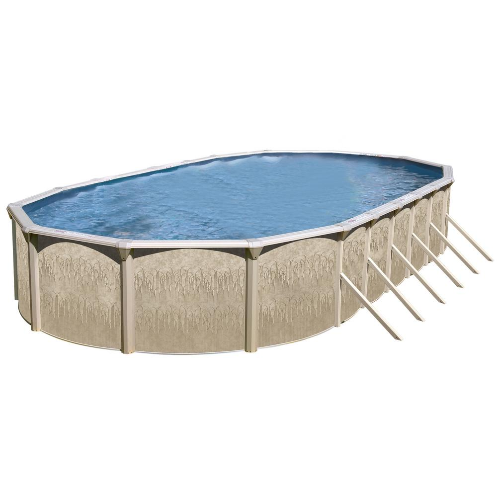 Galveston 24 ft x 15 ft x 52 in oval above ground pool for 24 ft garden pool