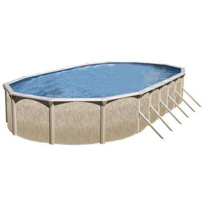 Galveston 24 ft. x 15 ft. x 52 in. Oval Above Ground Pool Kit
