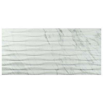 Eterno Carrara Wave 12-7/8 in. x 25-5/8 in. Porcelain Wall Tile (11.79 sq. ft. / case)