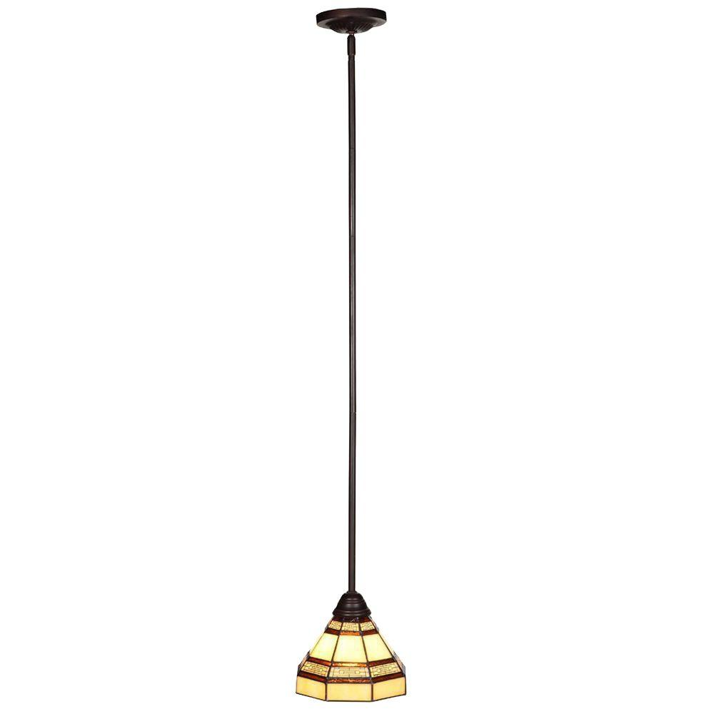 Hampton Bay Addison 1-Light Oil-Rubbed Bronze Mini Pendant