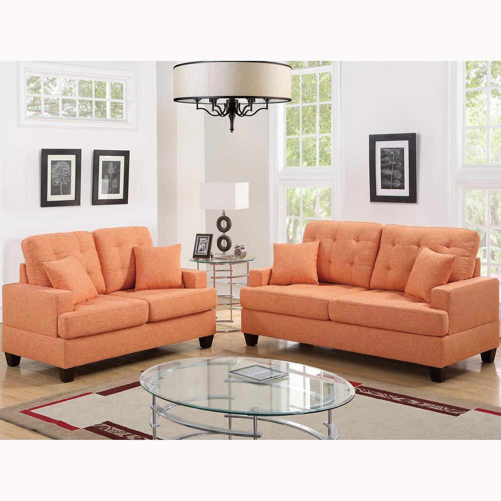 Basilicata 2-Piece Citrus Sofa Set