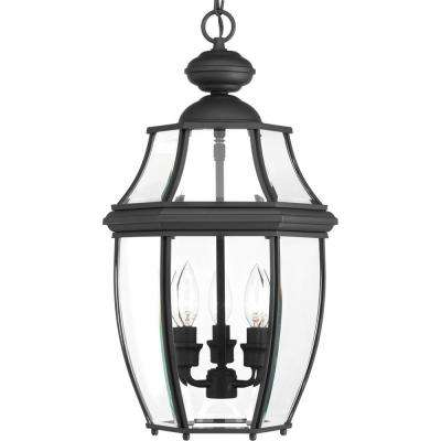 New Haven Collection 3 -Light Outdoor Black Hanging Light