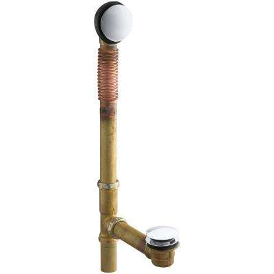 Clearflo Brass Toe Tap Bath Drain in Vibrant Polished Chrome