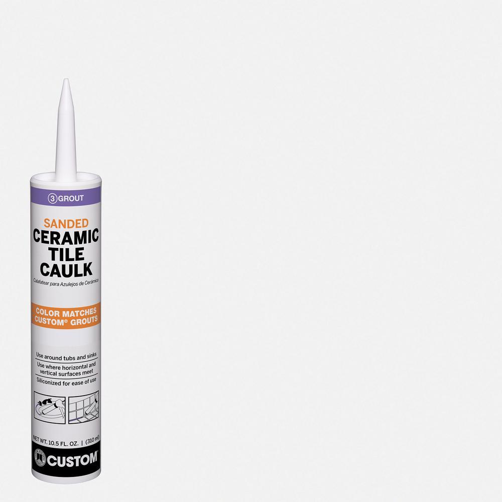 Polyblend #641 Cool White 10.5 oz. Sanded Ceramic Tile Caulk