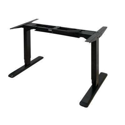 Black Electric Height Adjustable Desk Frame with Dual Motor (Tabletop Not Included)