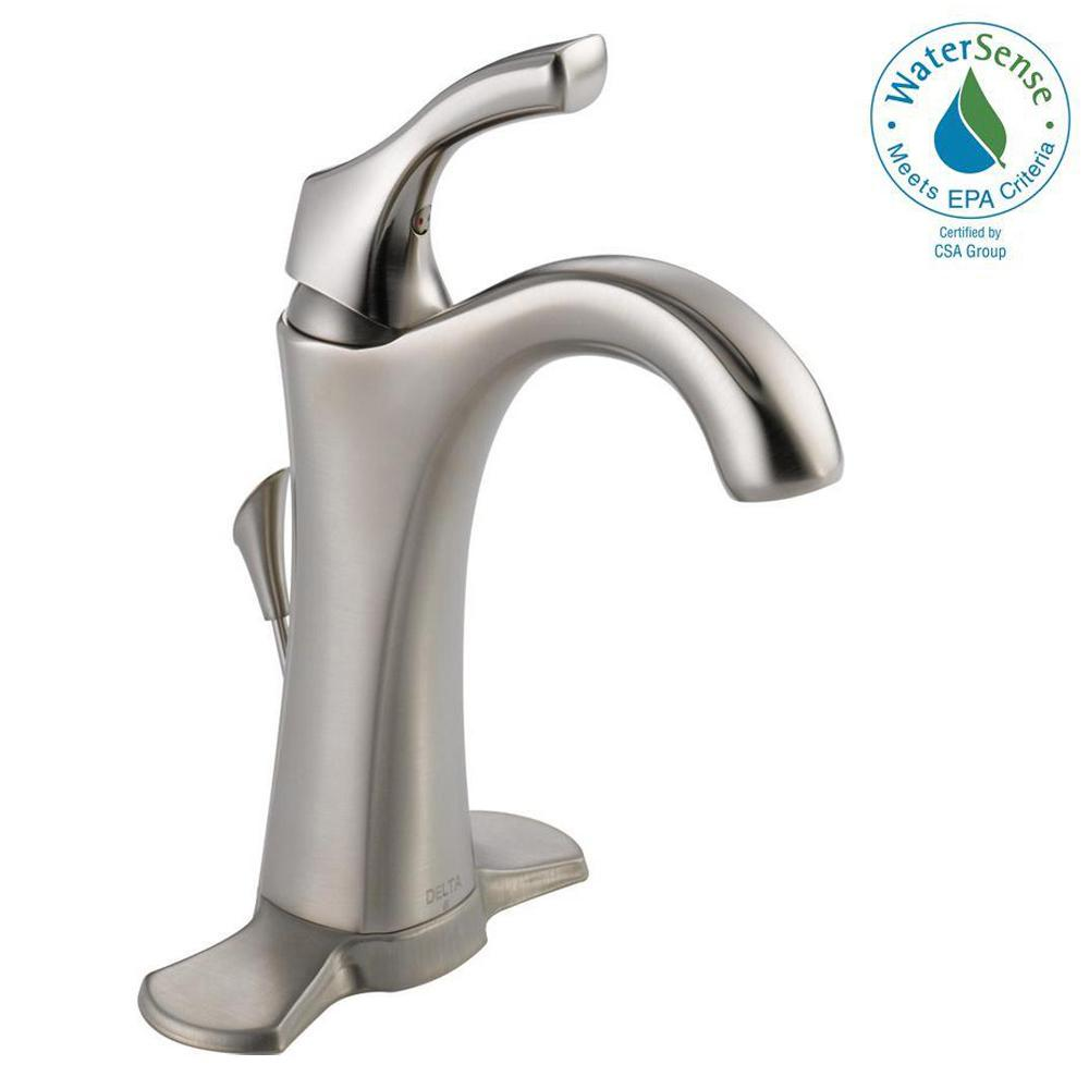 Delta Addison Single Hole Single-Handle Bathroom Faucet with Metal ...