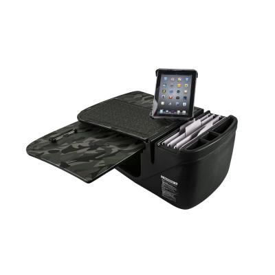 GripMaster Green Camouflage Car Desk with Built-In Power Inverter and Universal iPad/Tablet Mount