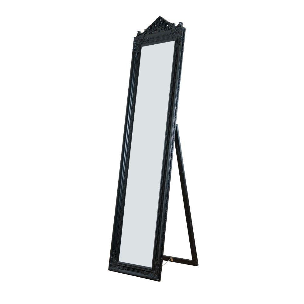 Oversized Black Wood Modern Mirror (71 in. H X 1.9 in. W)