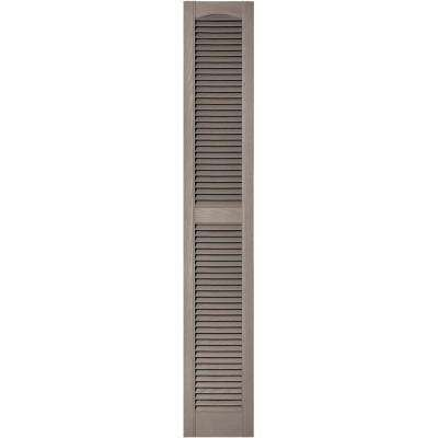 12 in. x 72 in. Louvered Vinyl Exterior Shutters Pair in #008 Clay