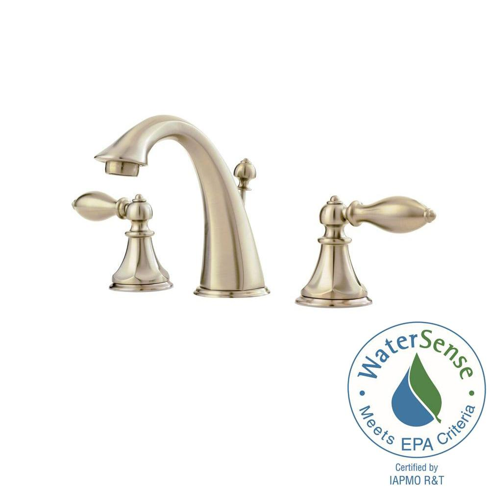Pfister Catalina 8 In Widespread 2 Handle Bathroom Faucet In Brushed Nickel Lf 049 E0bk The