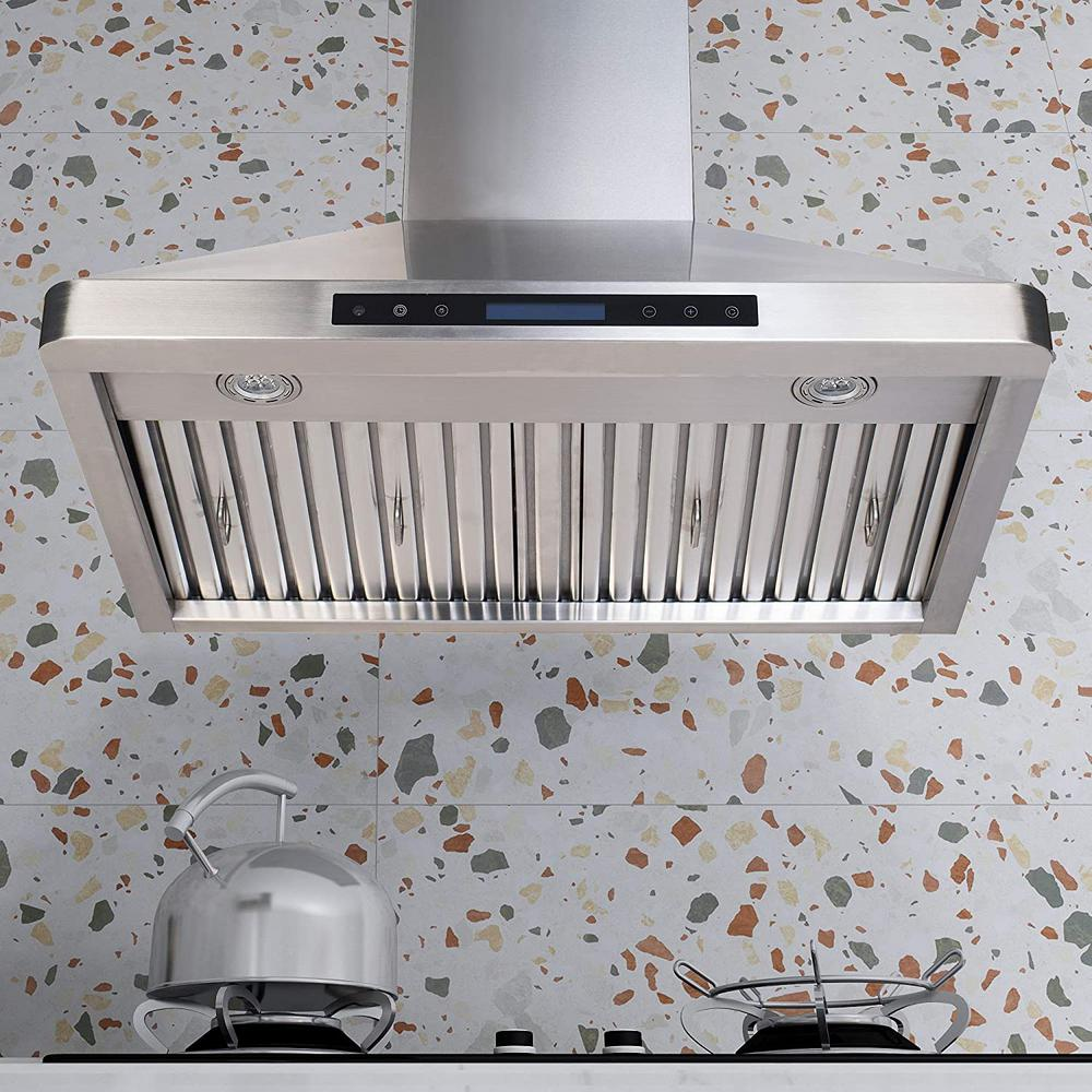 Home Beyond 30 In 600cfm Under The Cabinet Range Hood With Light In Stainless Steel Ps29 The Home Depot