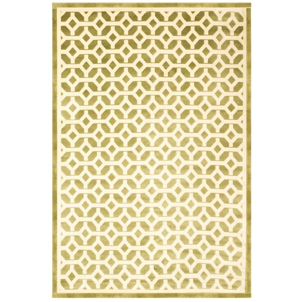 Sams International Sonoma Duoro Apple Green 5 ft. 3 in. x 7 ft. 6 in. Area Rug