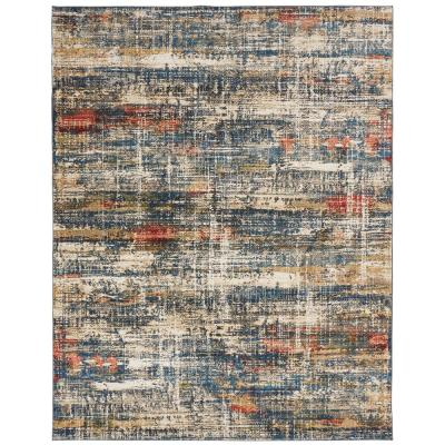 Blues and Multi 8 ft. x 10 ft. Area Rug