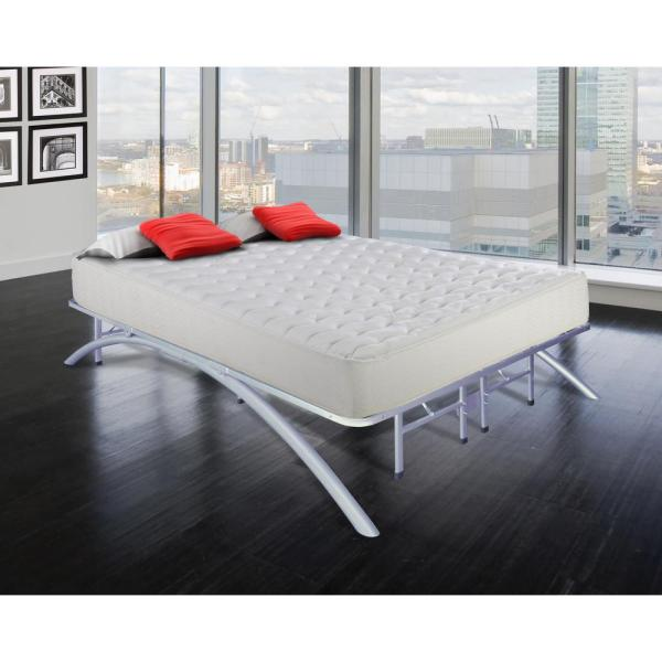 Cal-Size King Dome Arc Platform Bed Frame in Silver