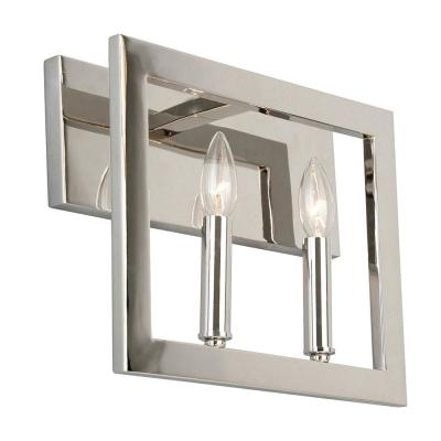 Jordan .75 in. 2-Light Satin Nickel Vanity Light