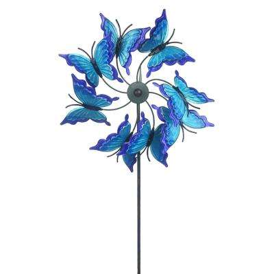 Butterfly Yard Metal Spinner Pinwheel