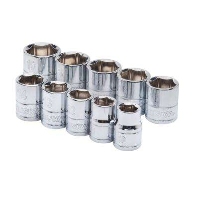 3/8 in. Drive Standard Metric Socket Set (10-Piece)