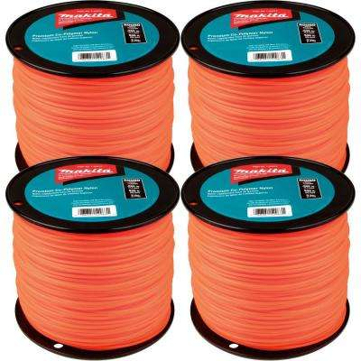 3 lbs. 0.095 in. x 840 ft. Round Trimmer Line in Orange (4-Pack)