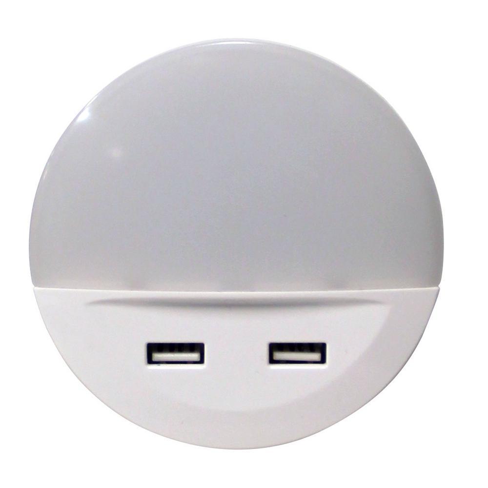 Sylvania Dual USB Dusk to Dawn LED Night Light