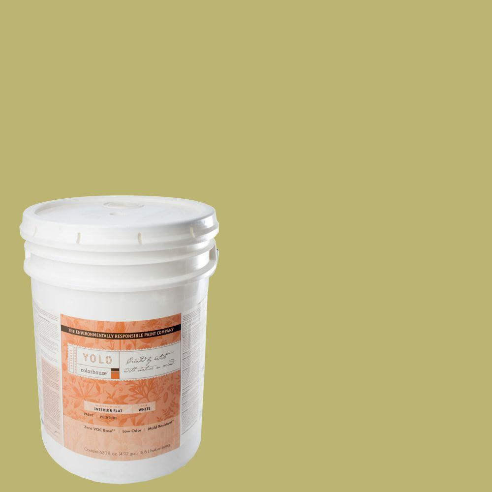 YOLO Colorhouse 5-gal. Leaf .04 Flat Interior Paint-DISCONTINUED