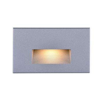 5.2 in. 5-Watt Integrated LED Gray Step and Stair Deck Light