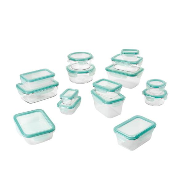 Good Grips 30-Piece Smart Seal Glass and Plastic Container Set
