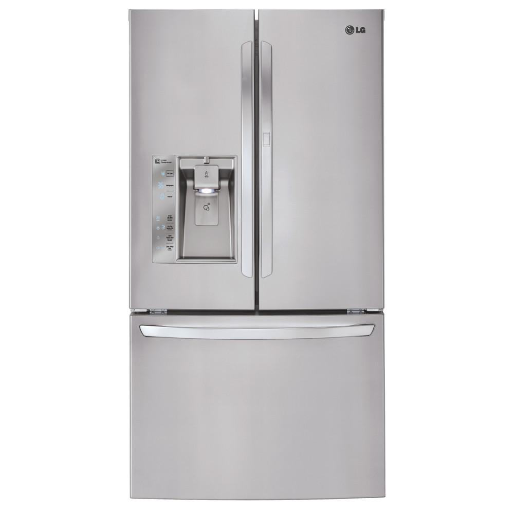 Lg electronics 315 cu ft french door refrigerator with door in french door refrigerator with door in door in stainless steel lfxs32766s the home depot rubansaba