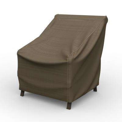 NeverWet Hillside Medium Black and Tan Patio Chair Cover
