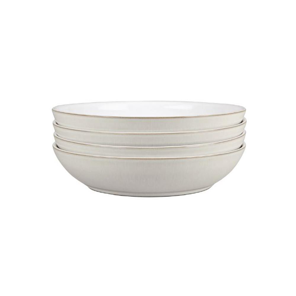 Denby Natural Canvas White Pasta Bowl Set Of 4 Cnv 052 4 The Home Depot