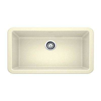 Ikon Apron-Front Granite 33 in. x 19 in. Single Bowl Kitchen Sink in Biscuit