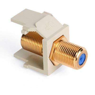 QuickPort F-Type Gold-Plated Connector, Ivory