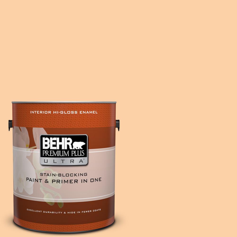 BEHR Premium Plus Ultra 1 gal. #P230-3 Vitamin C Hi-Gloss Enamel Interior Paint
