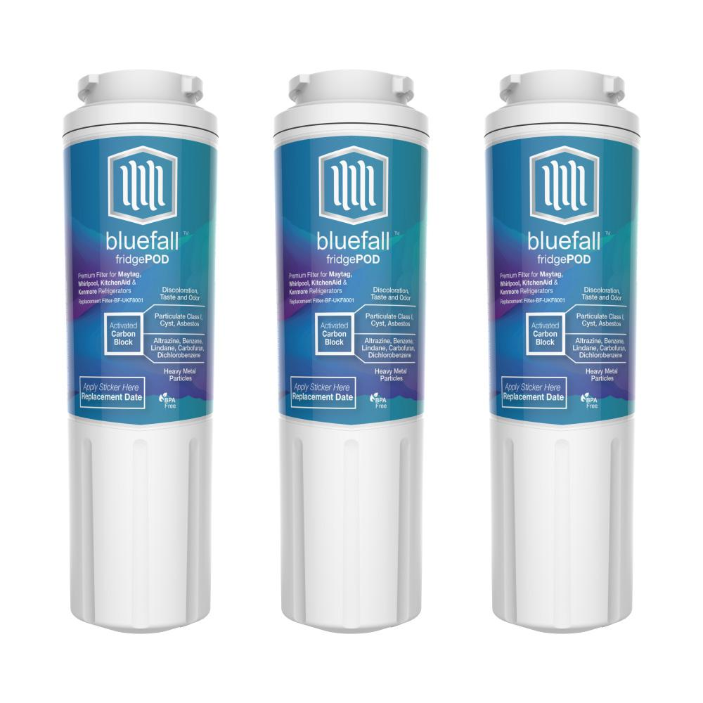 Bluefall 3 Compatible Refrigerator Water Filters Fits
