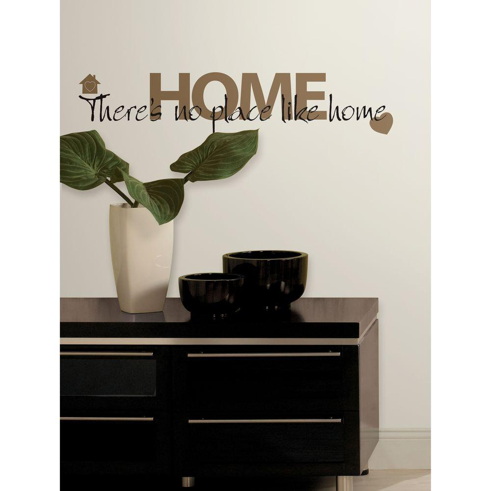 18 in. x 40 in. No Place Like Home 12-Piece Peel