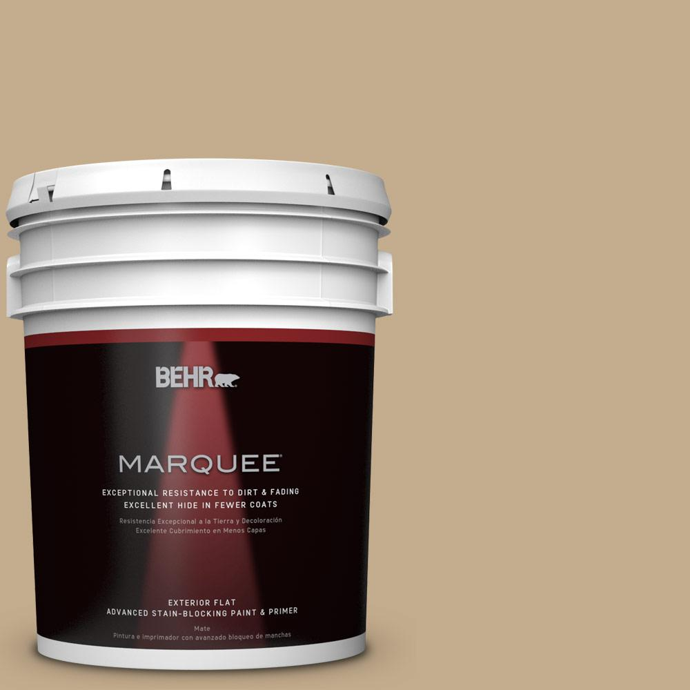 BEHR MARQUEE 5-gal. #PPU7-21 Woven Straw Flat Exterior Paint