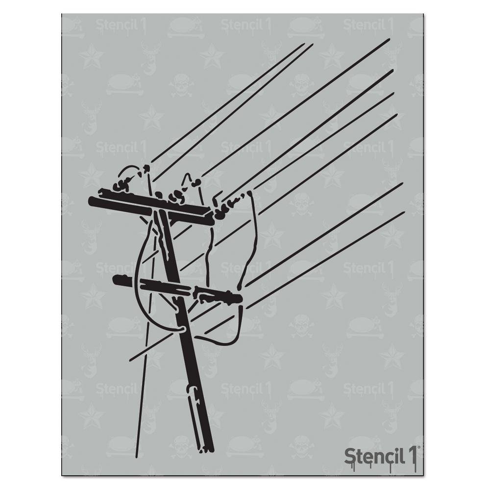 Stencil1 Power Lines Stencil S1 01 32 The Home Depot